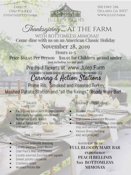 Thanksgiving 2019 flyer