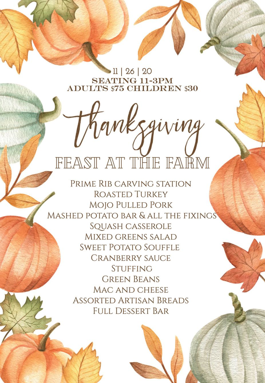 Thanksgiving Feast at The Farm event photo