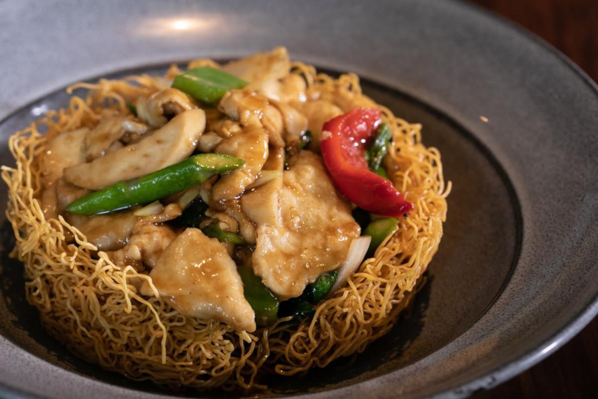 Szechuan noodles dish