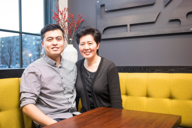 Jack Wang and his mother, Jessie Wong