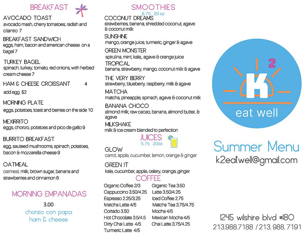 k2 menu 2