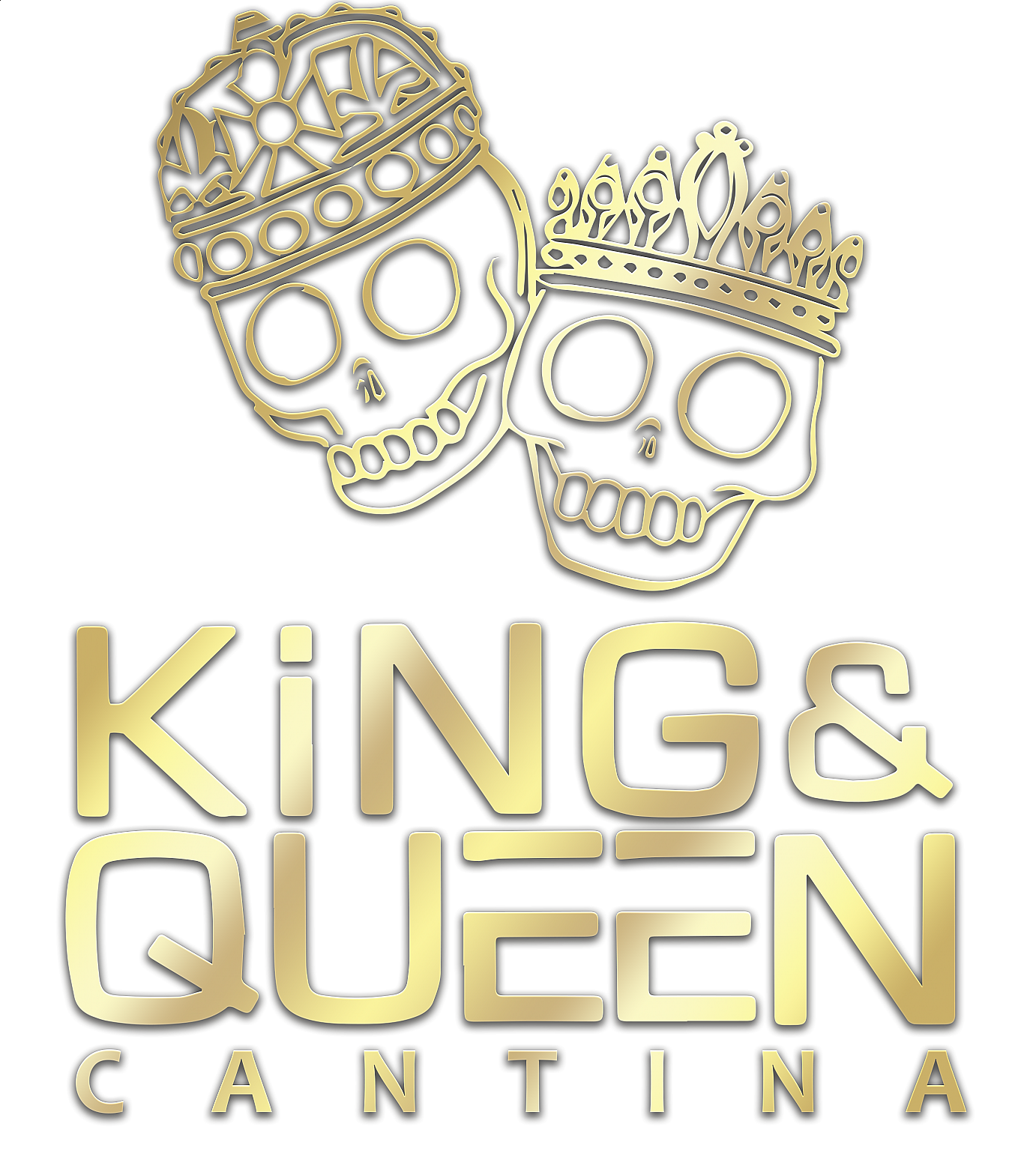 King and Queen Cantina logo gold