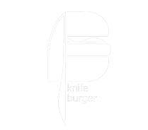 Knife Burger logo scroll