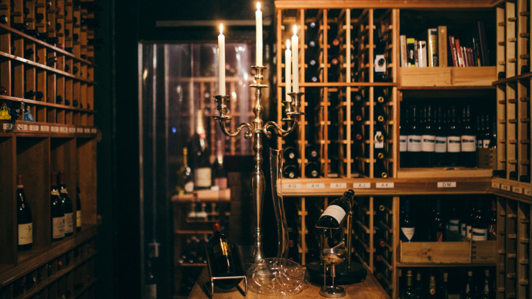 The stellar wine cellar