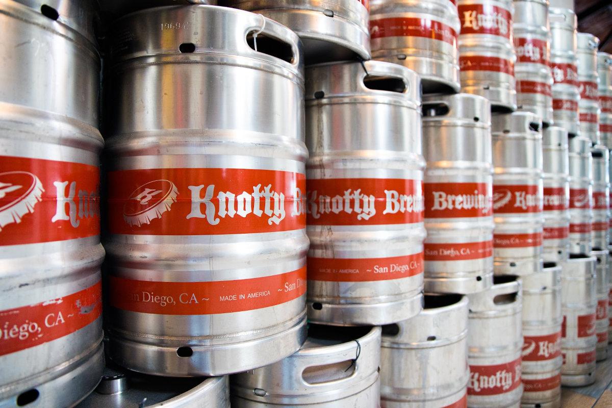 Beer in barrels