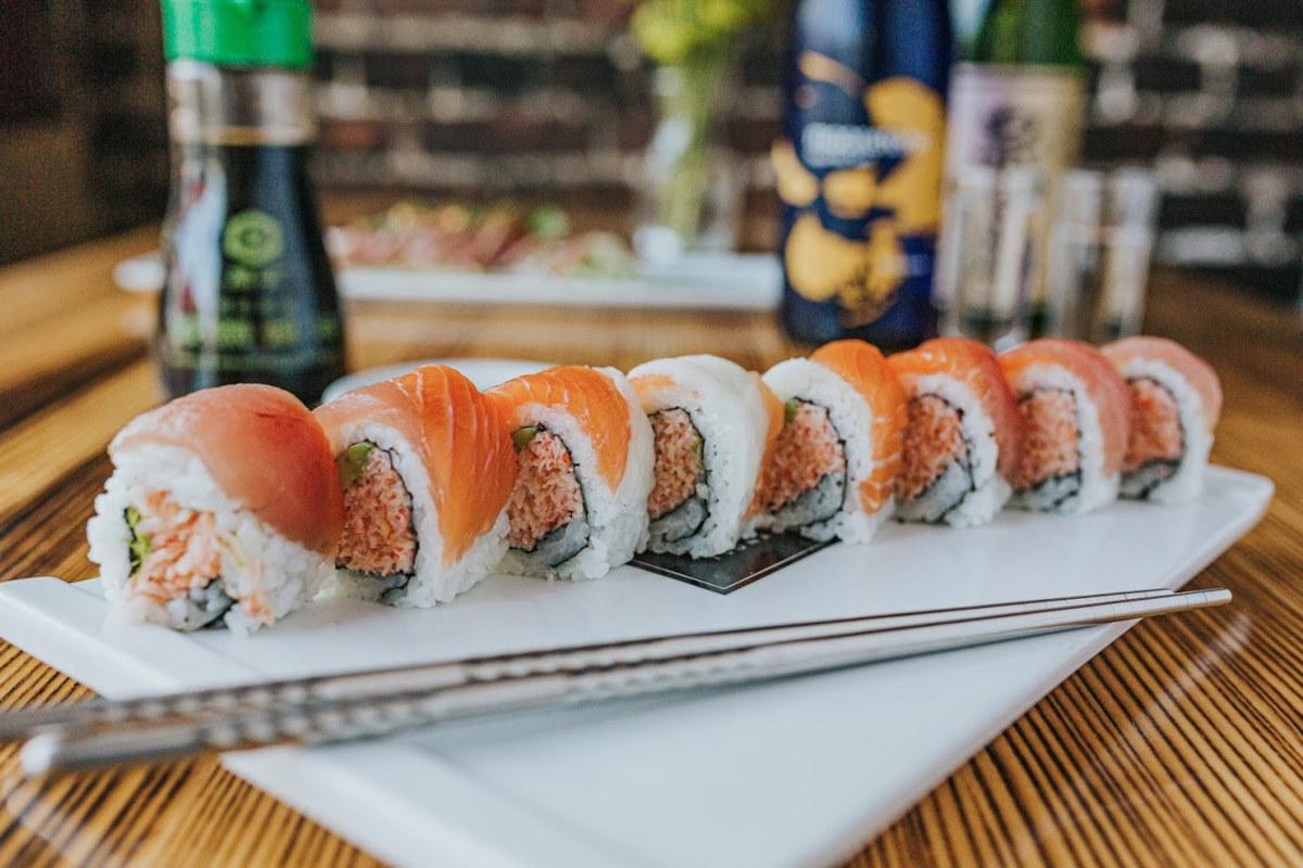 Orange sushi