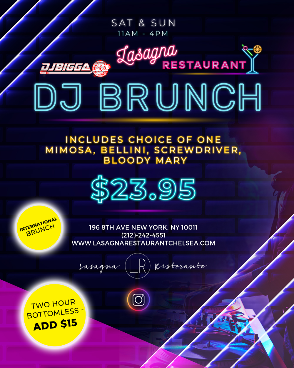 DJ Brunch Flyer
