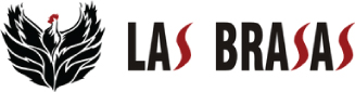 Las Brasas logo scroll