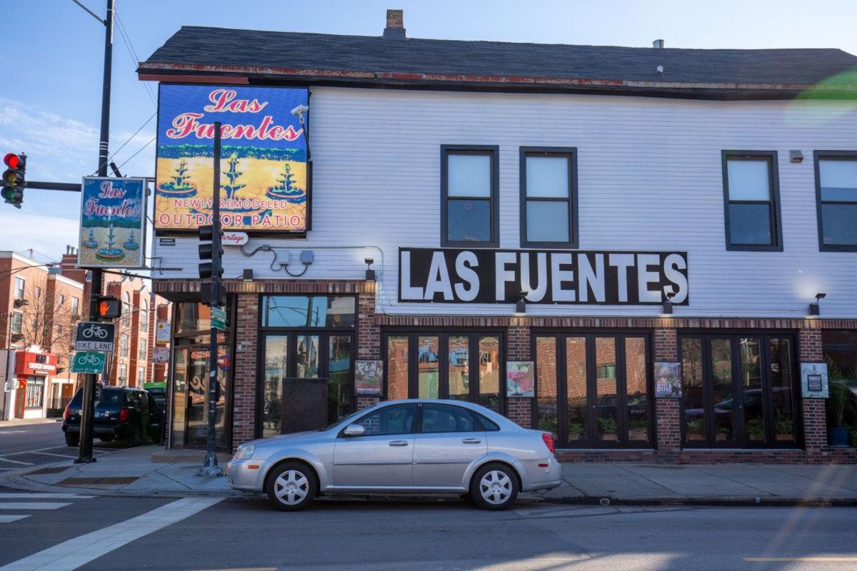 Las Fuentes entrance, exterior