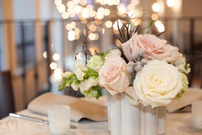 Floral decoration closeup