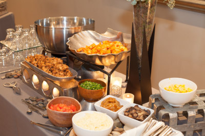 Catering variety of dishes