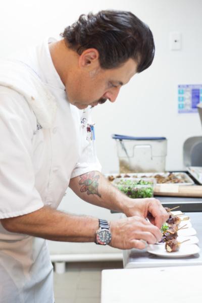 Chef making bites