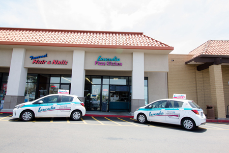 delivery cars in front of the Carlsbad Leucadia Pizzeria