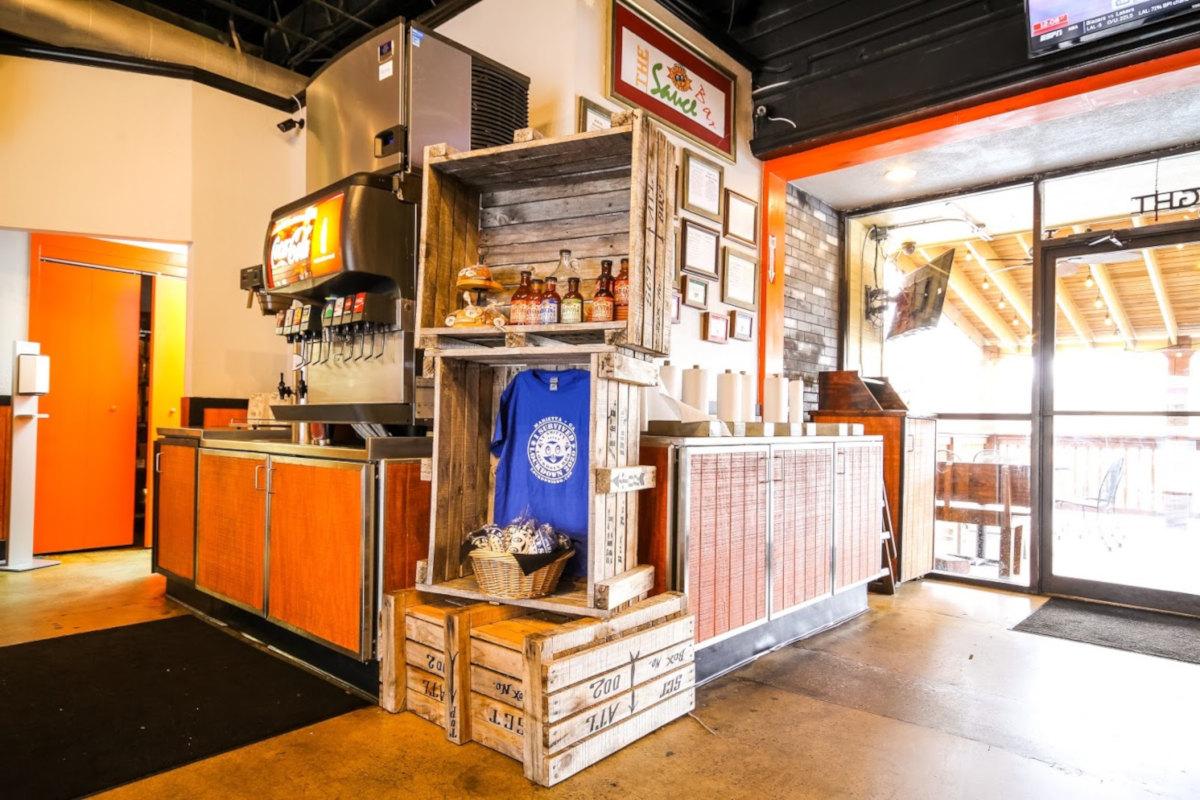 Interior, the sauce bar