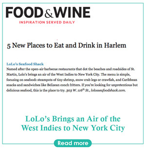 Food and wine article