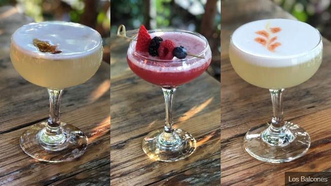three cocktails photo