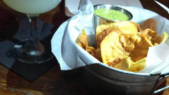 tortillas with a dip photo