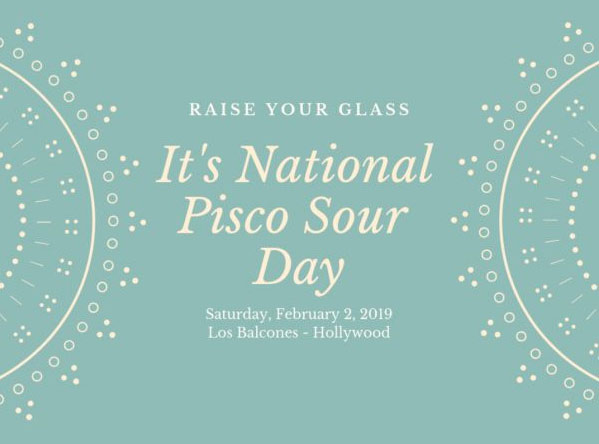 Los Balcones Is Celebrating The Pisco Sour This Weekend