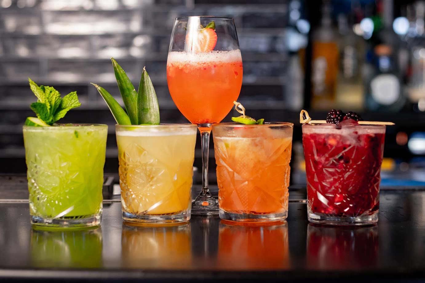 image of a bar with drinks