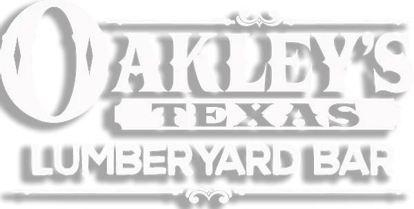 Oakley's Lumberyard Bar logo scroll