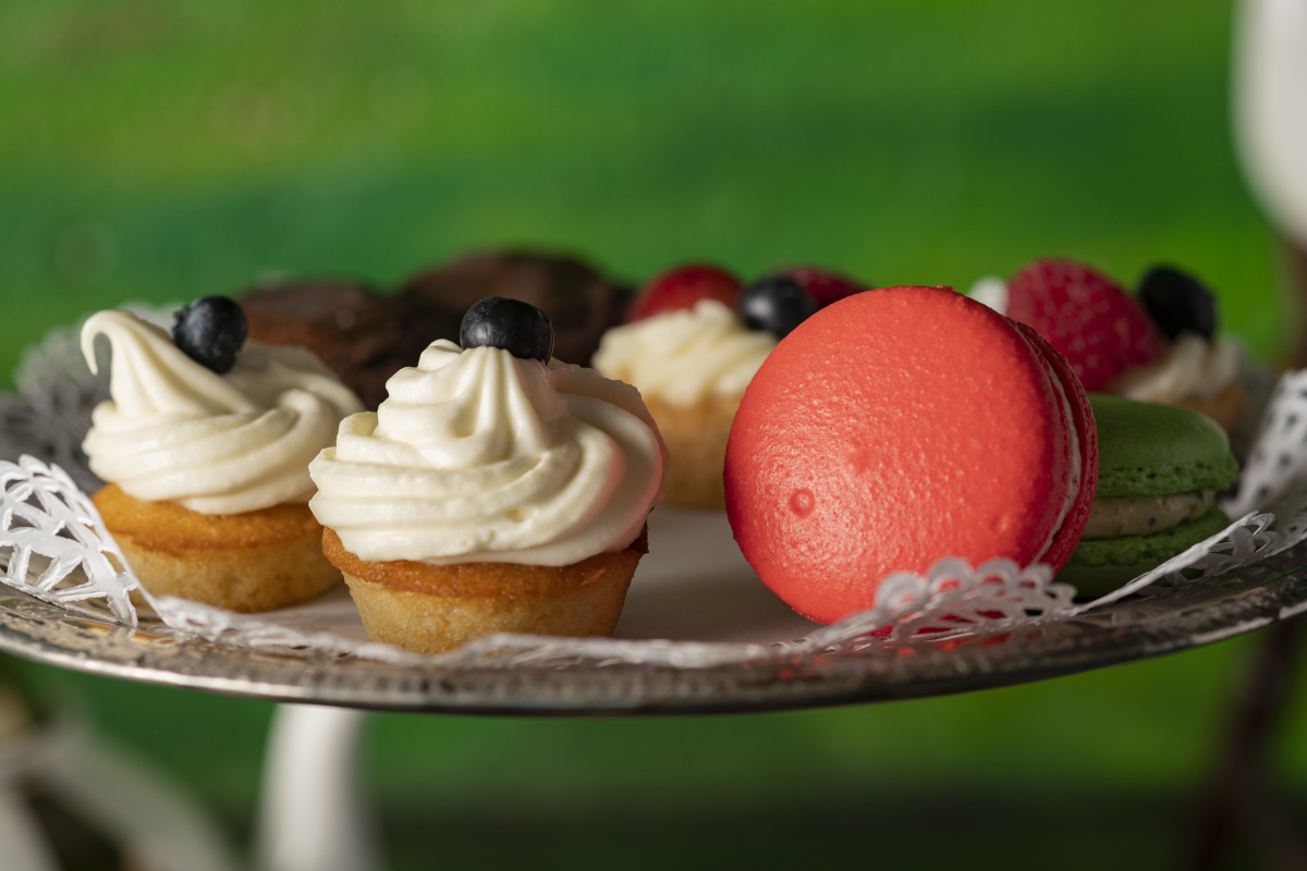 tea tower desserts