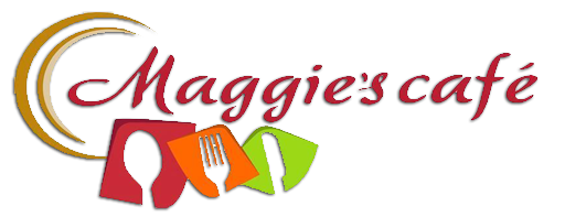 Maggie's Cafe logo scroll