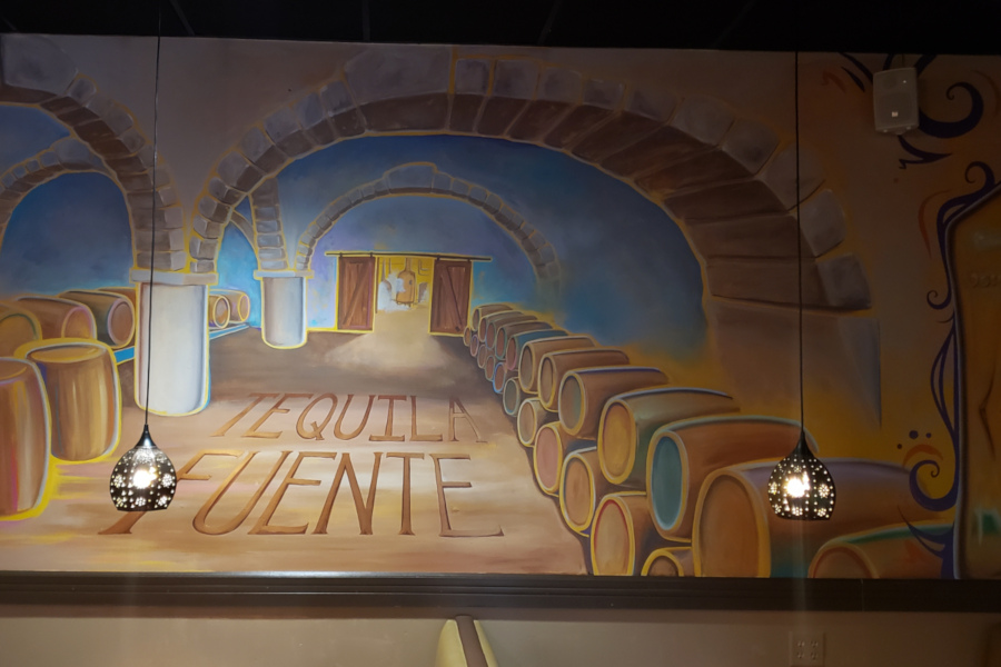 Fuente sign on the wall