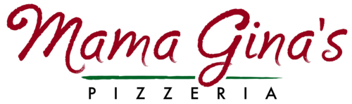 Mama Gina's Pizzeria logo scroll