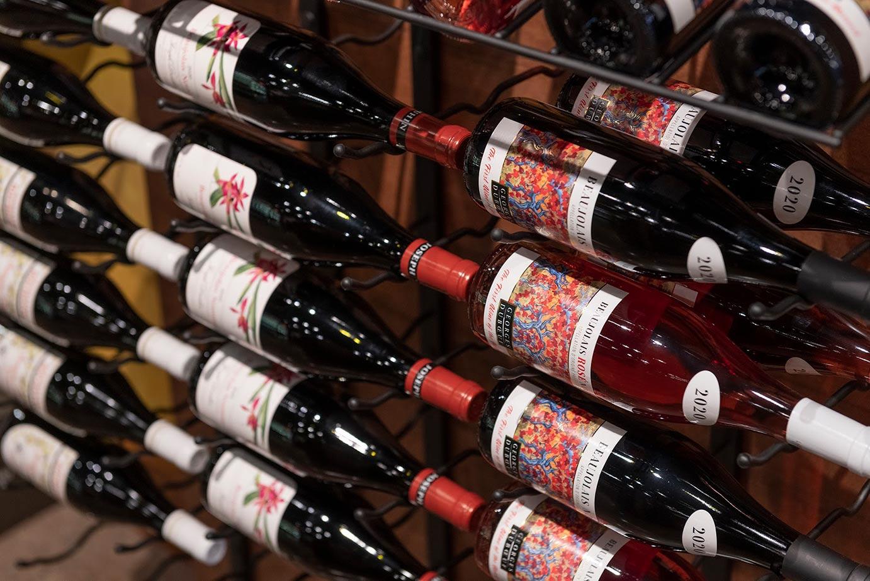 rose vine bottles