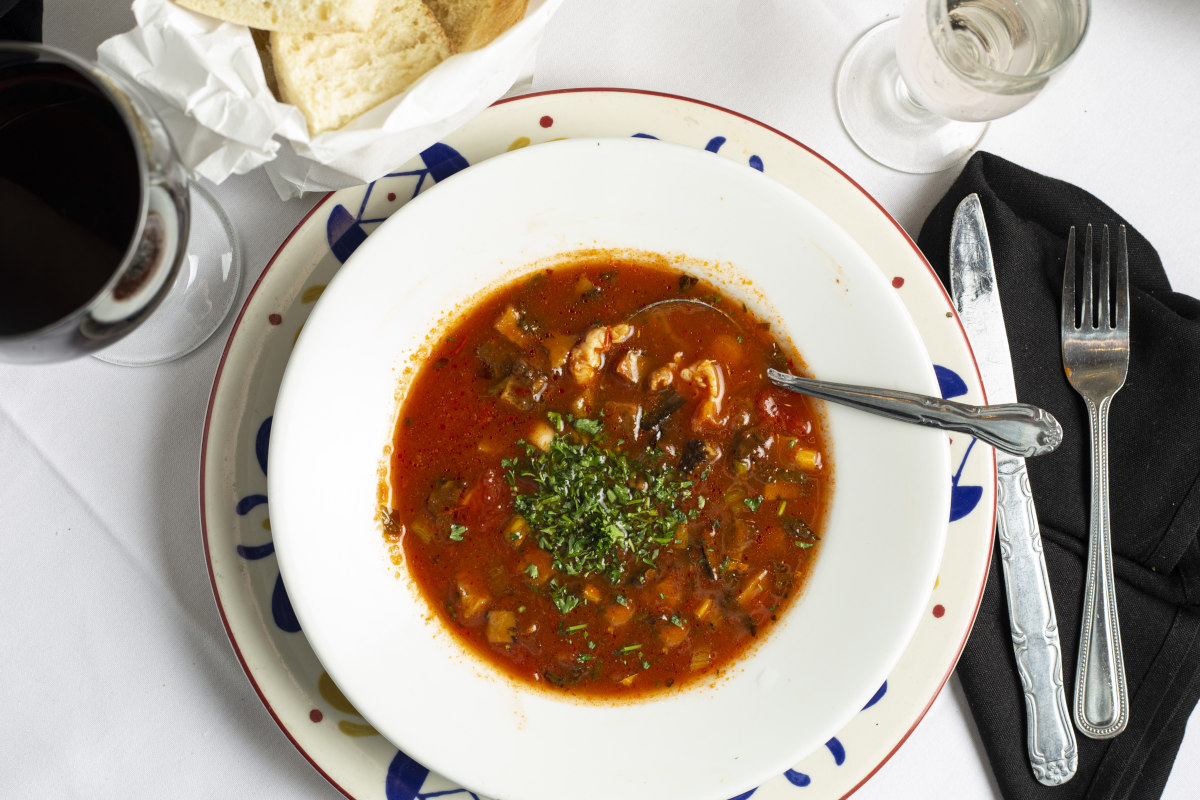 Eggplant and Shrimp Soup