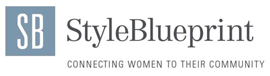 style blue print logo