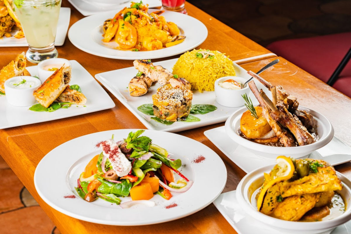 Different types of food on the table