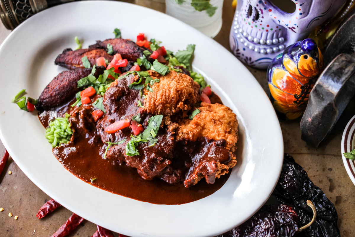 fried chicken mole