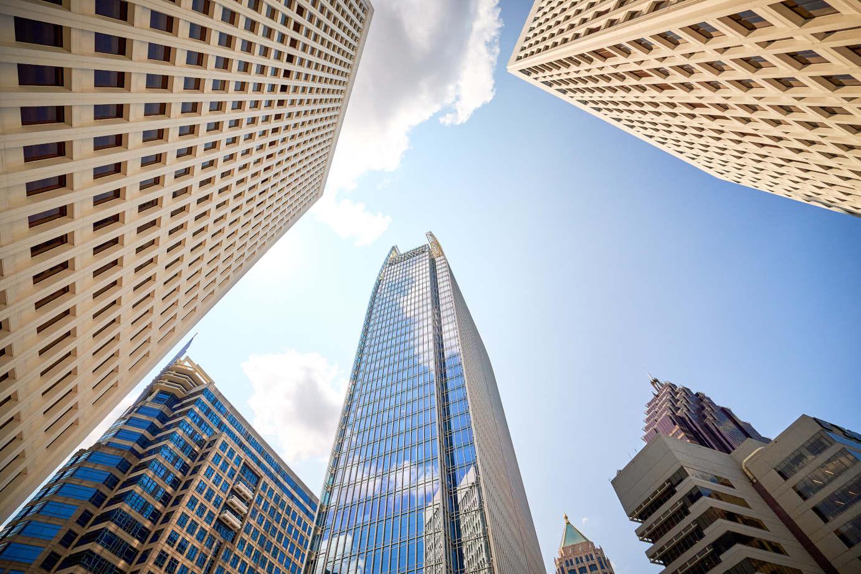 Buildings, view ftom bellow