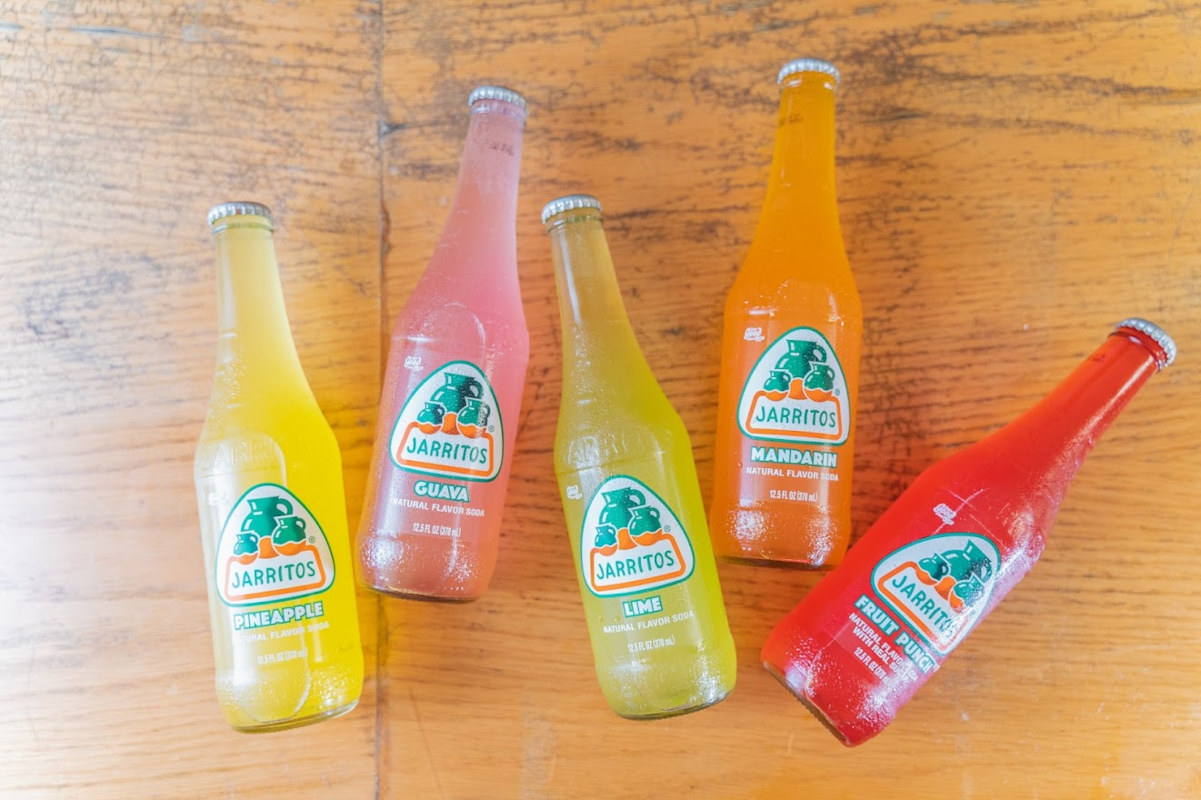 Bottles of Jarritos soda