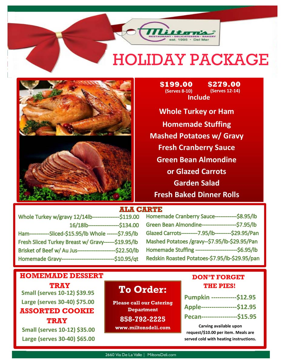 Christmas Holiday Package Flyer