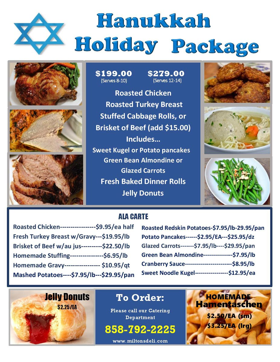 Hanukkah Holiday Package Flyers