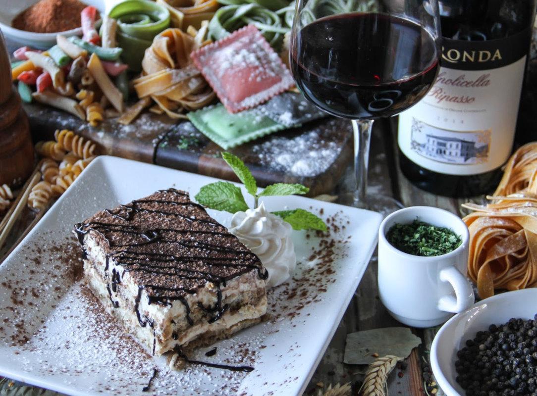 Tiramisu Espresso with lady fingers layered with sweet mascarpone cream