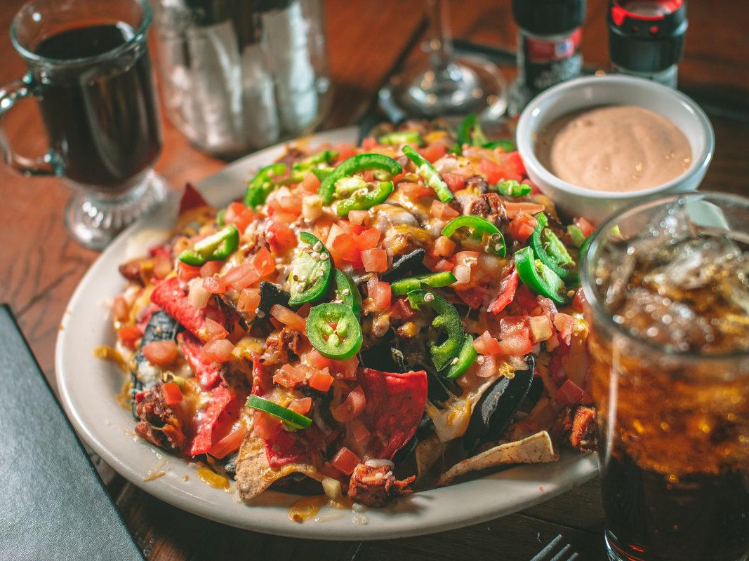 mustang nacho dish