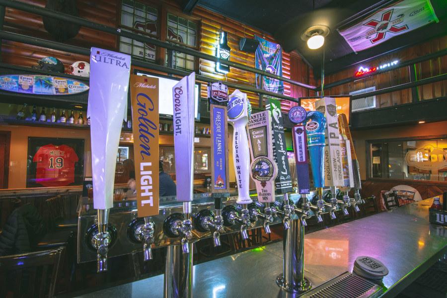 different beer taps