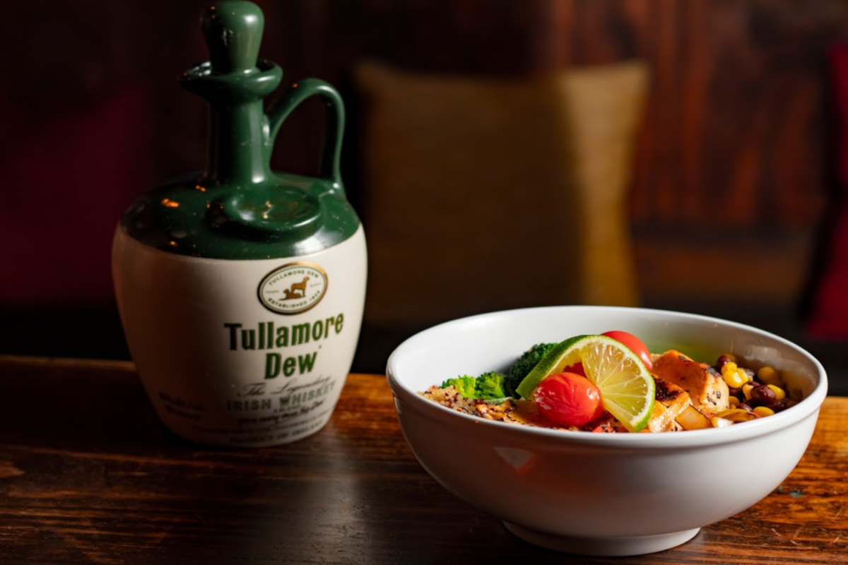 quinoa salad with tullamore dew