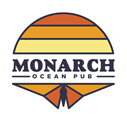 Monarch Ocean Pub logo scroll