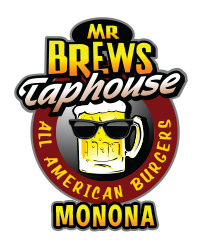 Mr Brews Taphouse Monona logo scroll