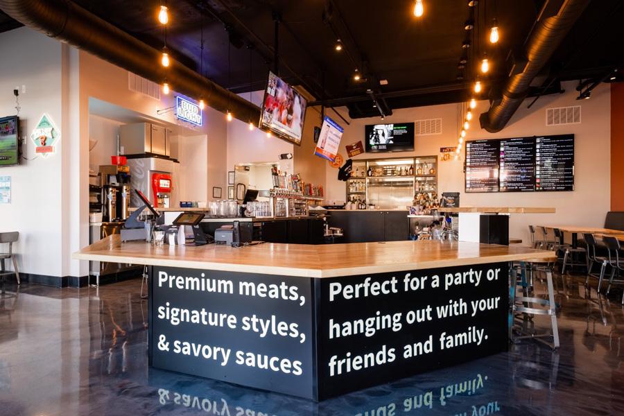 Interior, central bar area