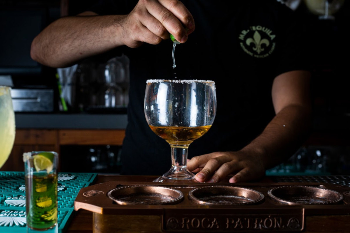 Staff making a tequila