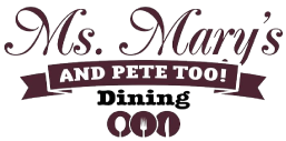 Ms. Mary's and Pete Too logo top