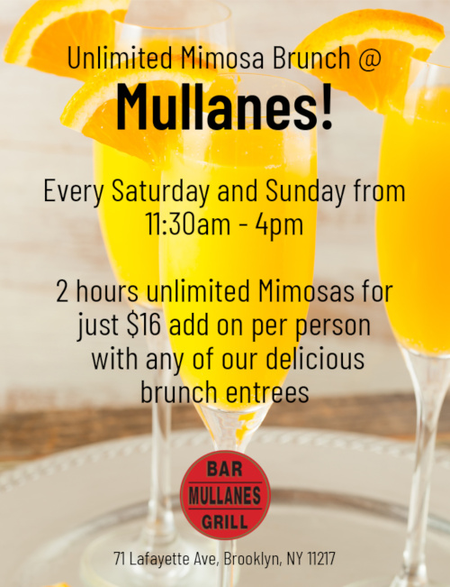mimosa brunch flyer