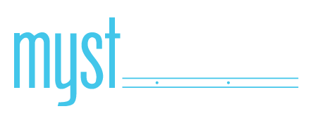 Myst Lounge logo scroll