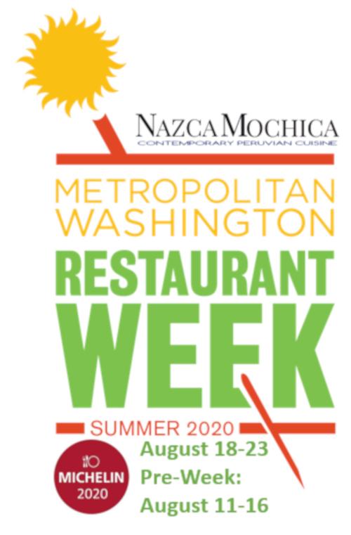 Metropolitan Washington restaurant week in August