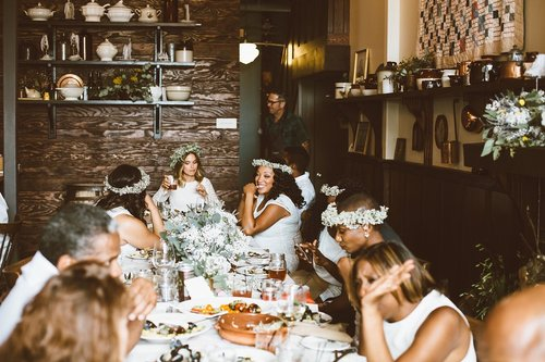Wedding celebration, long table